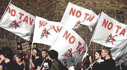 manifestanti No Tav