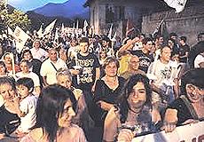 """Il """"popolo No-Tav"""" in valle di Susa"""