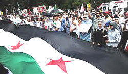 Manifestazione in Siria