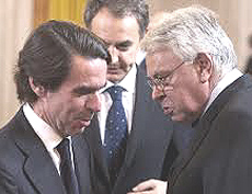 Aznar, Zapatero e Gonzàlez
