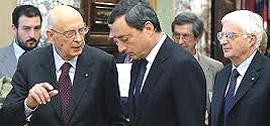 Giorgio Napolitano con Mario Draghi