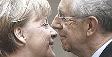 Angela Merkel con Mario Monti