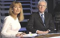 Lilli Gruber con Mario Monti