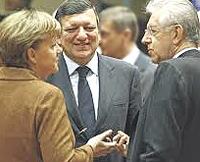 Merkel, Barroso e Monti