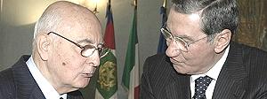 Giorgio Napolitano con Nicola Mancino