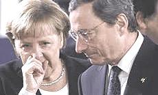 Merkel e Draghi