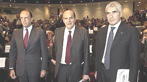 Alfano, Bersani e Casini
