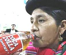 La Coca-Colla, versione andina della bevanda Usa