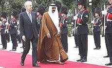 L'emiro del Qatar con Mario Monti