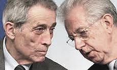 Enrico Bondi col premier Monti