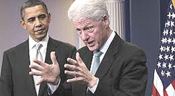 Obama e Bill Clinton