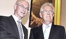 Van Rompuy e Monti