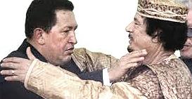 Hugo Chávez con Muhammar Gheddafi