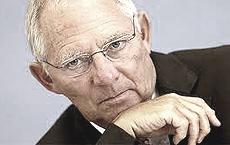 Il ministro Wolfgang Schäuble, gendarme del rigore tedesco