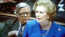 Geoffrey Howe e Margaret Thatcher
