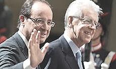 Hollande e Monti