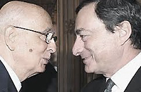 Napolitano e Draghi
