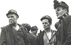 minatori inglesi in sciopero negli anni '80