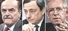 Bersani, Monti e Draghi