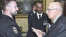I due marò con Napolitano