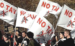 manifestanti No-Tav