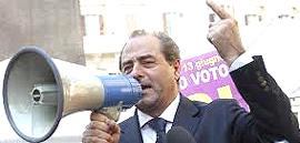 """Antonio Di Pietro, riciclatosi in """"Rivoluzione civile"""""""
