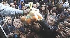 Grecia, distribuzione di cibo