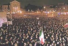 L'invasione dei Grillini a piazza San Giovanni