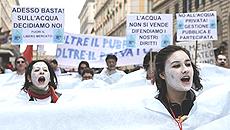 acqua pubblica manifestazione