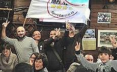 Grillini in festa per l'exploit elettorale