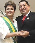 Chavez con Dilma Rousseff