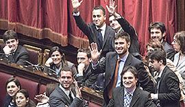 Grillini in Parlamento