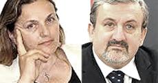 Laura Puppato e Michele Emiliano