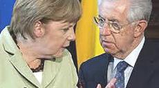 Merkel e Monti, i due grandi sconfitti