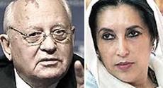 Mikhail Gorbaciov e Benazir Bhutto