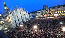 "Lo ""tsunami tour"" a Milano"