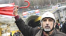 No Tav: Alberto Perino al cantiere di Chiomonte