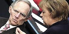 Schäuble e Merkel
