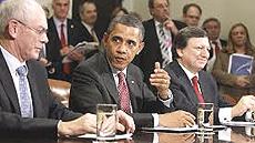 Van Rompuy, Obama e Barroso