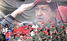 Caracas, i funerali di Chávez