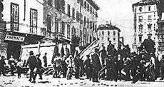 Barricate a Milano prima della strage del 1898