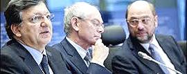 Barroso, Van Rompuy e Schultz: i signori dei diktat