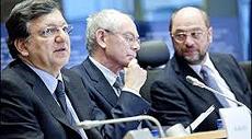 Barroso, Van Rompuy e Schulz