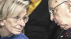 Emma Bonino e Giorgio Napolitano
