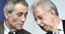 Spending review: Enrico Bondi e Mario Monti