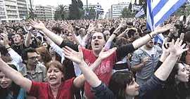 Grecia, protesta popolare contro l'austerity