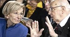 La Bonino con Napolitano