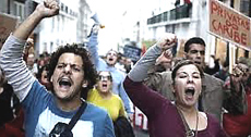 La protesta a Lisbona