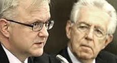 Olli Rehn e Mario Monti