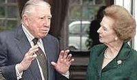 Pinochet con la Thatcher